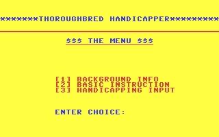 Thoroughbred Handicapper image