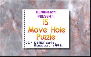 15 MOVE HOLE PUZZLE image