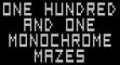 Логотип Emulators One Hundred and One Monochrome Mazes (1983)