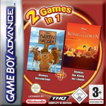 2 Games in 1 : Brother Bear + The Lion King [Europe] image