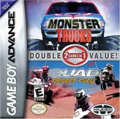 2 Games in 1 : Quad Desert Fury + Monster Trucks [USA] image