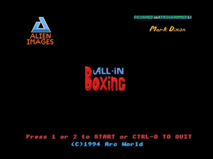 All In Boxing (1994)(Arc World) image